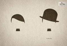 #Sombreros Hut Weber #hat Hitler vs. Chaplin metonimia_visual
