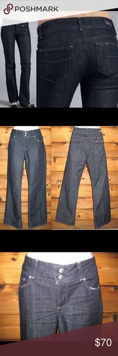 "Paige Premium Denim Hidden Hills Boot Cut Jeans Paige Premium Denim Hidden Hills Boot Cut Jeans. *Like-new  Details: Paige Size: 29 X 32 Color: Black Sea WA081 (Blue) 60% Cotton/40% Polyester Made in the USA.       Measurements: Waist:  32"" Hips: 38"" Inseam: 32"" Front Rise: 9"" Paige Jeans Jeans Boot Cut"
