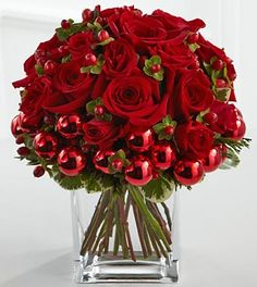 christmas flower arrangement dancing santas christmas pinterest christmas flower arrangements flower arrangements and santa - Christmas Flower Decorations