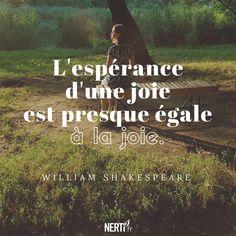 L'espérance d'une joie est presque égale à la joie (William Skakespeare) Rdv sur notre site pour se libérer de vos peurs, angoisses : https://nerti.fr/