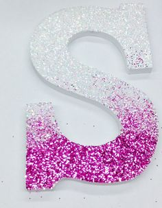 # college #dorm #decor #room #diy #ombre letter #simple #glitter #easy
