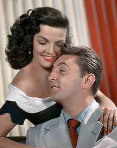 """jane russell, robert mitchum (""""his kind of woman"""", dir. Hollywood Actor, Golden Age Of Hollywood, Vintage Hollywood, Hollywood Glamour, Hollywood Stars, Classic Hollywood, Hollywood Icons, Classic Actresses, Classic Films"""