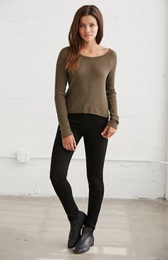 Wild World Waffle Knit Thermal Top
