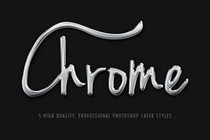 5 Realistic Pro Chrome Layer Styles ~~ Inside you will find the PSD and Layer Styles organized  Detailed informations and instructions Included.     Download this set and you will get:    - A unique .asl file with ALL the Layer Styles you see above  - Sample PSD, detailed and Layered with the samples…