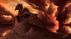 Red Dragon, Batya Sokolovsky on ArtStation at https://www.artstation.com/artwork/eLDAX