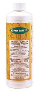 Physan 20 Fungicide 16 oz by Maril Products. $16.75. Physan 20 Fungicide, 16 oz. General control of plant pathogens on inanimate hard surfaces. For non-porous surfaces, orchids, fountains, ornamentals. Algaecide, Fungicide, Bactericide, Virucide.
