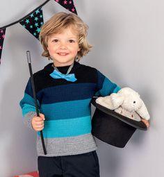 Ριγέ πουλόβερ πρότυπο παιδιών
