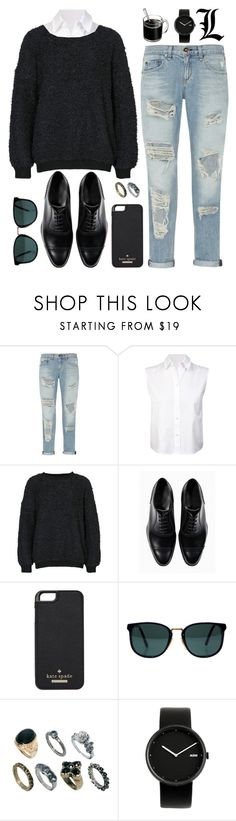 """Boyish"" by killerqueen188 ❤ liked on Polyvore featuring rag & bone, T By Alexander Wang, NLY Trend, Kate Spade, Ray-Ban, ASOS and Alessi"