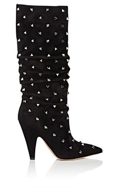 abbf5670cc Valentino Women's Rockstud Suede Knee Boots - Black. Valentino Garavani  ShoesValentino ...