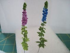 pulchinella's cellar miniatures: How to Make a Miniature Delphinium Plant