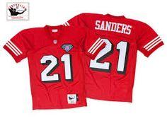 872de43dc Men s San Francisco 49ers Deion Sanders Mitchell  amp  Ness Scarlet 1994  Authentic Throwback Jersey Patrick