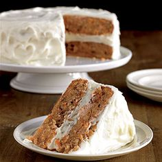 This classic layer cake recipe is a great way to reap the healthy benefits of carrots. If you prefer, ease preparation and bake this dessert in a single layer and simply frost the top.