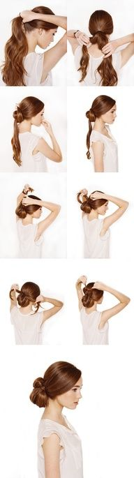 ~ DIY  knotted chignon tutorial ~