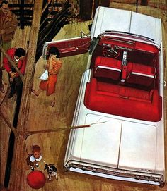 My favorite Chevy brochure artwork… 1964 Chevrolet Impala SS convertible (via prova275)....We had one of these :)