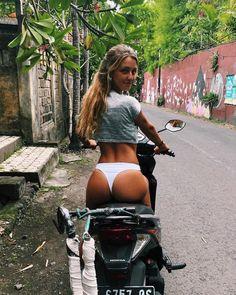 Vespa Girl, Scooter Girl, Lady Biker, Biker Girl, Sexy Bikini, Tumbrl Girls, Bike Photography, Motorbike Girl, N Girls