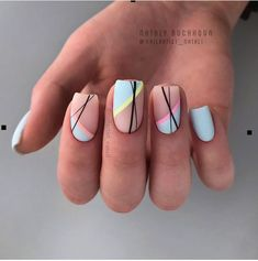 Beautiful Square Nails Design Ideas You'll Want To Copy Immediately – Pa. - Beautiful Square Nails Design Ideas You'll Want To Copy Immediately – Page 4 – Cocopipi - Best Acrylic Nails, Acrylic Nail Designs, Nail Art Designs, Nails Design, Short Nail Designs, Shellac Nail Designs, Diy Nails, Cute Nails, Pretty Nails