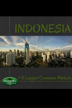 Indonesian consumers represent 0.91 percent of the world consumer market.