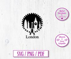London City Digital Download Decal by JumbleinkDesign on Etsy London Silhouette, City Scapes, London City, No Response, Wedding Gifts, Birthday Gifts, Great Gifts, Decals, Templates