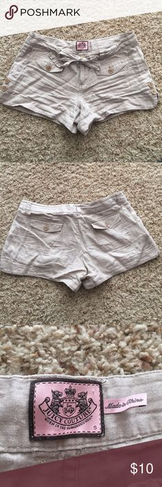 Juicy Couture linen shorts size S Juicy Couture size S tan linen shorts in excellent condition Juicy Couture Shorts