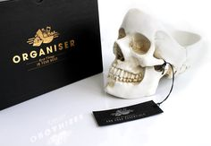 Skull Tidy Organizer - keep your stuff in your head. Love it.