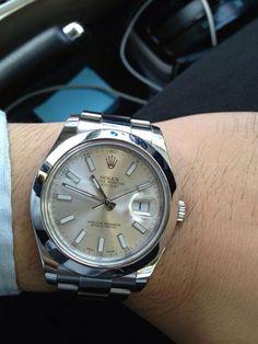 Rolex datejust2 42mm. Silver index