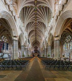 Interior de la catedral de Exeter © Diliff