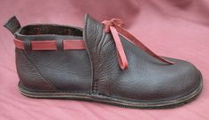 Handmade Leather Shoes Chocolate Brown & Red Bull by thoseshoes