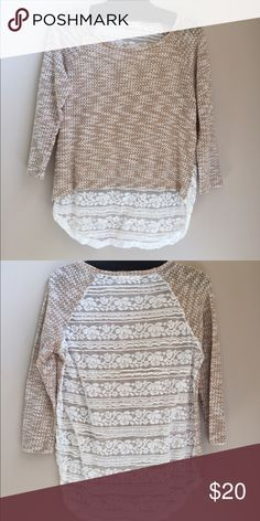 Alter'd State lace-back sweater Very lightweight, Alter'd State sheer lace-back sweater. Perfect for fall, and goes with everything. Looks great with a scarf! Altar'd State Sweaters Crew & Scoop Necks
