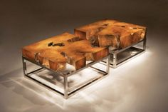 rustic landscaping | Natural Wooden Landscape Coffee Table Series by Chista rustic style ...