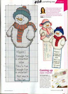 Snowman bookmark 2/2