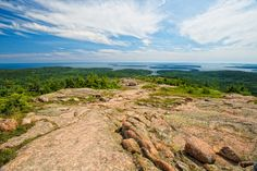 acadia national park-looking south toward the Cranberry Islands