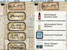 Tim Holtz has an app! Imagine keeping track of all the products you own, at your finger tips!!