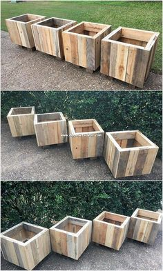 Wood pallet is recognized to be popularly used for the planter boxes creation. Hence here we will present you with one such unique idea for you! Yes, … - Alles über den Garten Diy Wooden Planters, Pallet Planter Box, Garden Planter Boxes, Outdoor Planter Boxes, Vegetable Planter Boxes, Building Planter Boxes, Recycled Planters, Deck Planters, Pallet Boxes