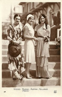Miss Russia, Austria and Holland - 1930