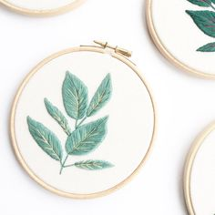 Such beautiful embroidery work! Rubber Plant Embroidery Hoop