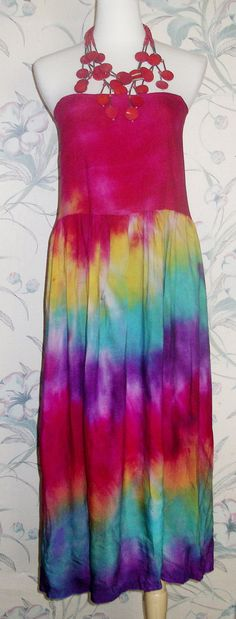 FINAL SALE Maxi Tie Dye Summer Pool Patio Beach by SunsetStars, $18.99