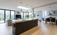 kitchen extensions If you're looking to create a kitchen diner for more open-plan living then knocking through or adding a kitchen extension could be the answer Big Kitchen, Open Plan Kitchen, Kitchen Ideas, Kitchen Modern, Kitchen Designs, Kitchen Tips, Kitchen Living, Room Kitchen, Kitchen Interior