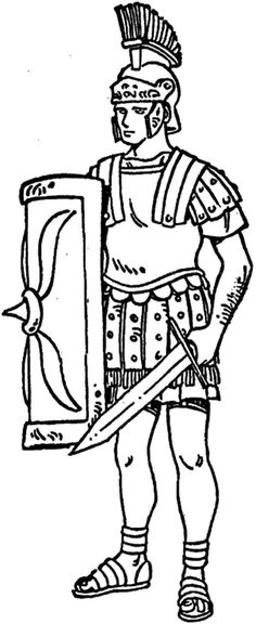 ancient rome colouring pages Ancient Roman Soldiers Drawings Jos