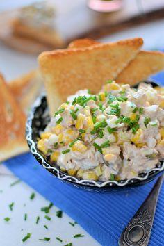 Salad with tuna Snack Recipes, Cooking Recipes, Snacks, Tuna Salad, Food And Drink, Yummy Food, Meals, Lifehacks, Poland