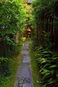 Japanese Garden, Kyoto, caminos y senderos.
