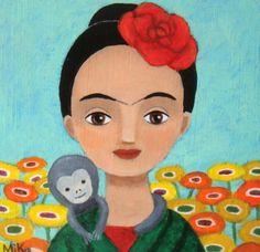 Entre Lápis e Pincéis: Frida Kahlo - Ilustrações