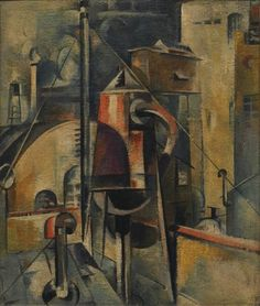 Preston Dickinson, Industrial Landscape, 1919; oil on canvas
