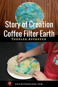 God created the earth - Beautiful, easy craft for the Story of Creation. trickytoddlers.com