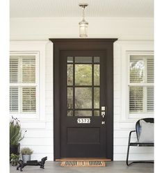 Trendy house entrance ideas diy the doors Ideas Best Front Doors, Black Front Doors, Black Exterior Doors, Front Doors With Windows, Door With Window, Exterior Door Trim, Exterior Doors With Glass, Front Door Paint Colors, Painted Front Doors