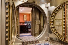 The Vault is one of three meeting rooms and is ideal for board meetings or small business gatherings. The historical design is sure to impress. We can provide additional meeting equipment including AV, film, and projectors to make sure your meeting is a success.