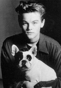 Young Leo with his first French Bulldog.
