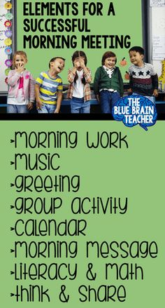 Morning Meeting Activities for Kindergarten ⋆ The Blue Brain Teacher by Selma Dawani Morning Meeting Kindergarten, Morning Meeting Activities, Morning Meetings, Morning Work, Class Meetings, Classroom Routines, Kindergarten Classroom, Classroom Ideas, Classroom Procedures