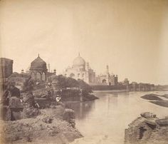 The first known picture of the Taj Mahal, 1855.