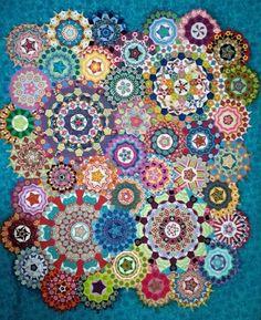 Millefiori la passacaglia quilt by Izy Denham