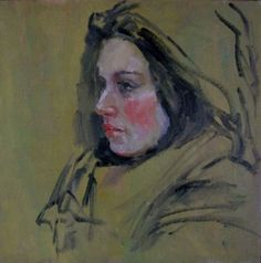 Oil Sketch of Deb - original oil portrait drawing, painting by artist Connie Chadwell